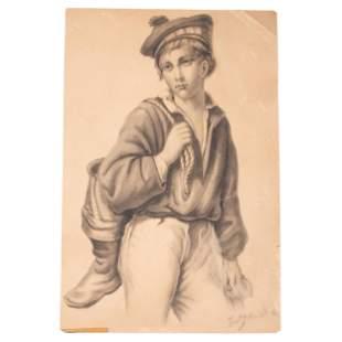 Fritz von Uhde (German, 1848-1911) Untitled (Portrait
