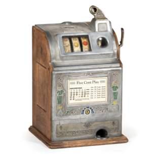 An O.D. Jennings Five-Cent 'Dutch Boy' Slot Machine