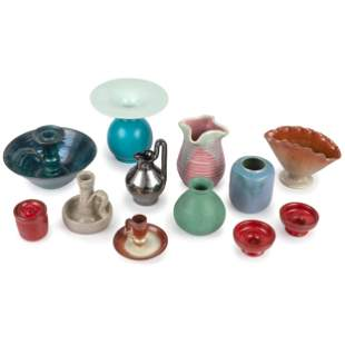 A Group of American Art Pottery