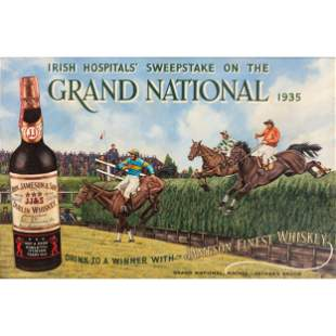 A Jameson Finest Whiskey Grand National Painted