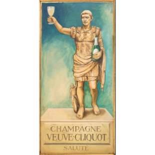 A Champagne Veuve Cliquot Augustus Caesar Painted