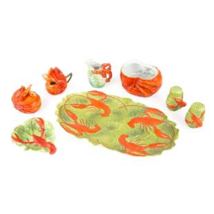 A Collection of Royal Bayreuth Lobster Table Wares,
