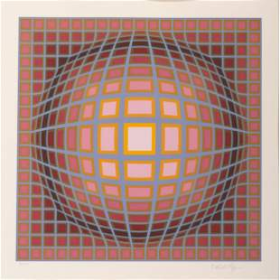 Victor Vasarely (French-Hungarian, 1906-1997) Untitled