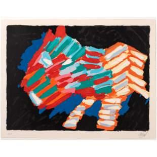 Karel Appel (Dutch, 1921-2006) Cat in the Night
