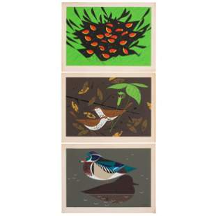 Three Charley Harper Serigraphs