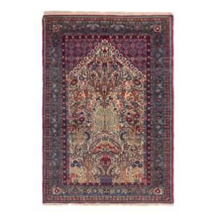 A Kirman Wool Prayer Rug