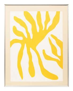 William Turnbull (Scottish, 1922-2012) Leaves, Red and