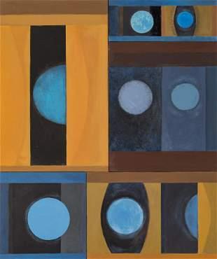 Helen Beccard Niles (American, 1903-1994) Blue Circles