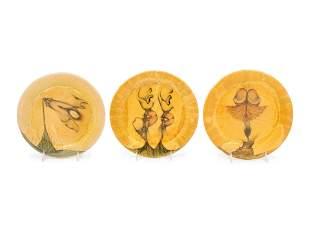 Jim Amaral (American-Colombian, b. 1933) Three Plates,