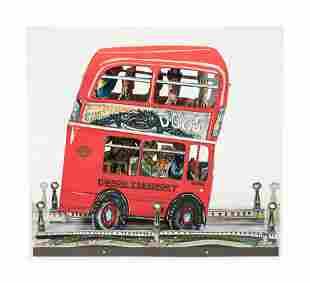 Red Grooms (American, b. 1937) London Bus, 1983