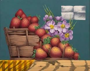 Douglas Golightly (American, b. 1931) Strawberries and