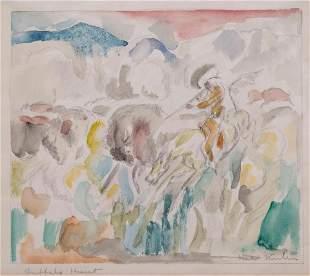 Walter Kuhn (American, 1877-1949) Buffalo Hunt