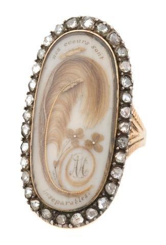 A Victorian 14 Karat Yellow Gold, Rose Cut Diamond and