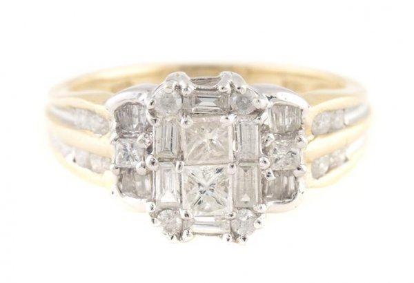 A 14 Karat Yellow Gold and Diamond Ring, 2.99 dwts.