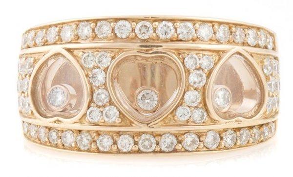 An 18 Karat Rose Gold and Diamond Ring, 6.77 dwts.