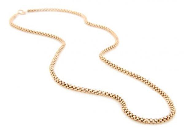 A 14 Karat Yellow Gold Snake Link Chain. 4.76 dwts.