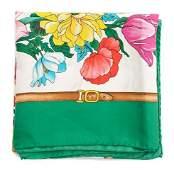 A Gucci Silk Scarf, 35 x 35 inches