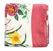 A Gucci Pink Silk Scarf, 34 x 34 inches.