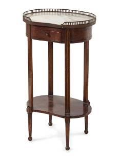 A Louis XVI Style Mahogany Side Table