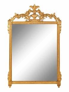 A Louis XVI Style Giltwood Mirror