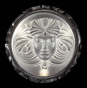 A Lalique Psyche Paperweight