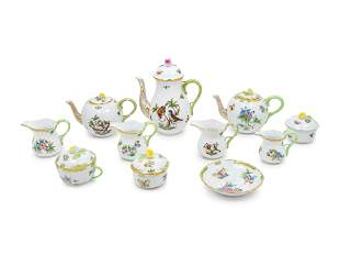 A Group of Herend Porcelain Tea and Coffee Articles