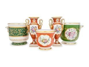 Five Continental Porcelain Table Articles