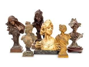 Six Continental Bronze Busts