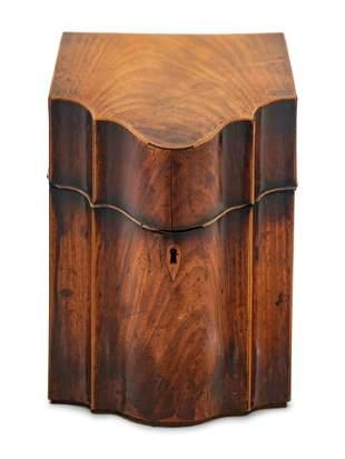A George III Style Mahogany Cutlery Box