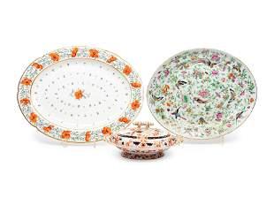 Three Ceramic Table Articles