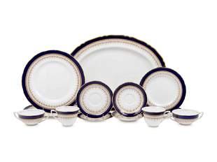 A Royal Worcester Regency Porcelain Dinner Service