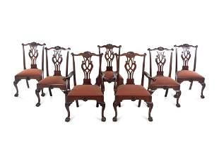 A Set of Seven Philadelphia Chippendale Style Mahogany