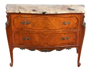A Louis XV Style Marble-Top Commode