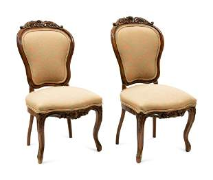 Two Rococo Revival Side Chairs