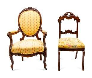 Five Victorian Mahogany Chairs