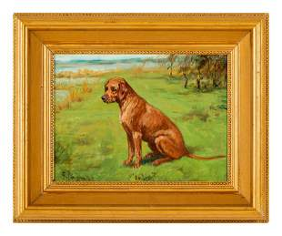 Four Paintings of Dogs