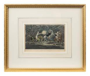 Four English Framed Color Engravings