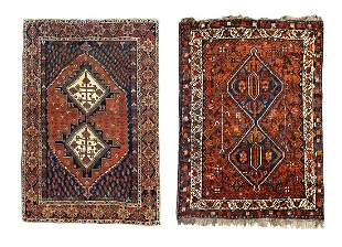 Two Afshar Wool Rugs