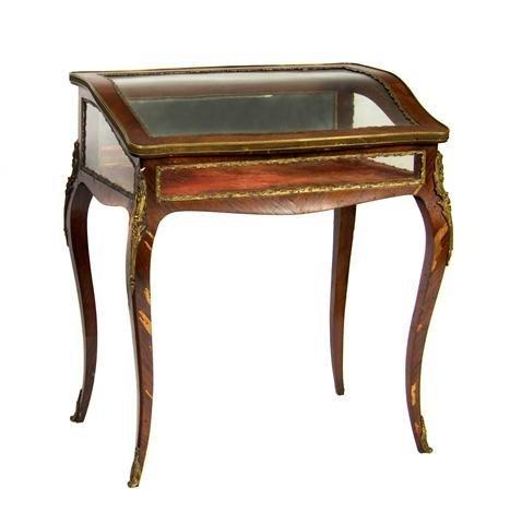 A Louis XVI Style Gilt Metal Mounted Vitrine Table, Hei