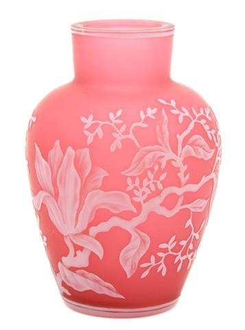 A Webb Cameo Glass Vase, Height 4 1/2 inches.