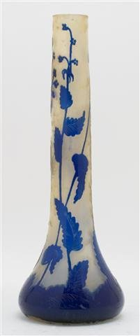 A Darcy Cameo Glass Vase, Height 13 3/4 inches.