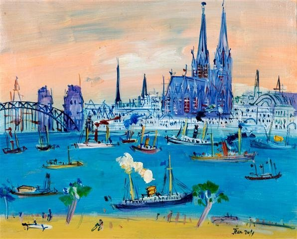 Jean Dufy, (French, 1888-1964), Cologne