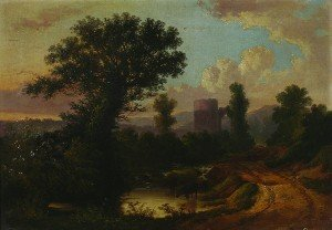 5: John Berney Ladbrooke, (British, 1803-1879), Road wi