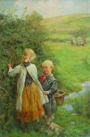 7: Edgar Barclay, (British, 1842-1913), The Blackberry