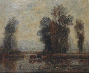 9: Louis Amie Japy, (Swiss, 1840-1916), Landscape with