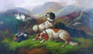 18: John Gifford, (British, d. 1900), Hunting Dogs in a