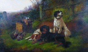 19: John Gifford, (British, d. 1900), Hunting Dogs at R