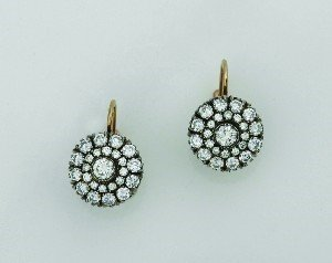 289: A Pair of Lady's Rose and White Gold and Diamond E