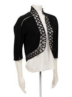 Ralph Rucci Crepe and Net Bolero Jacket