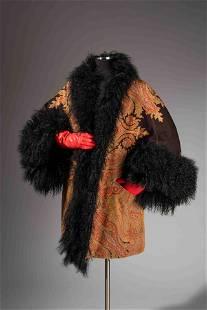 Ralph Rucci Paisley Coat with Lamb Fur Trim, 2011